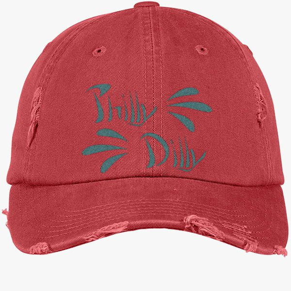 2252b8b77 Philly Dilly Distressed Cotton Twill Cap - Embroidery +more
