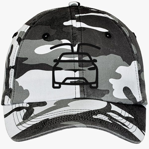 tesla car black Camouflage Cotton Twill Cap - Embroidery +more 2102e529cea