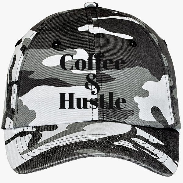 f94ad0ccc60c4 Coffee Camouflage Cotton Twill Cap - Embroidery +more