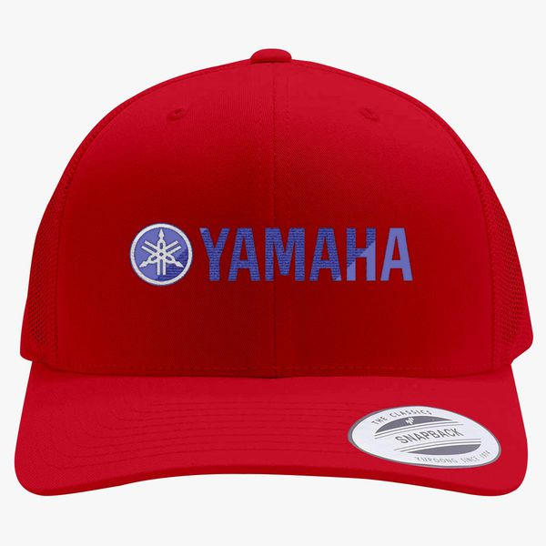 9ae0b3337cb5c Yamaha Logo Retro Trucker Hat - Embroidery +more