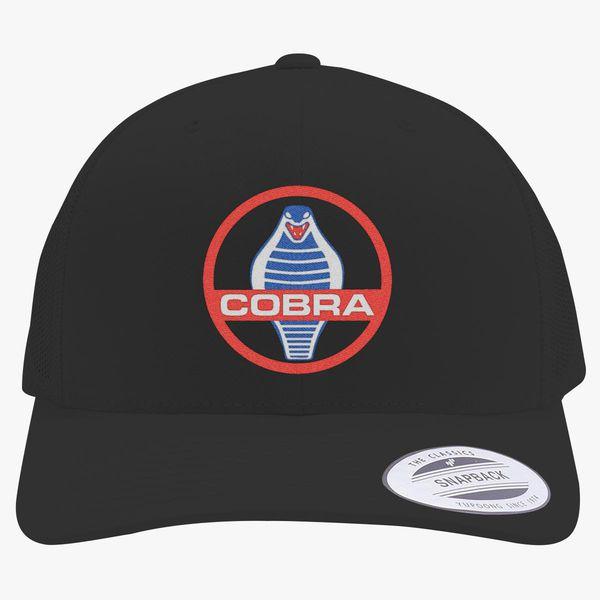 f2318530c Mustang Cobra GT 350 Retro Trucker Hat (Embroidered) - Hatsline.com