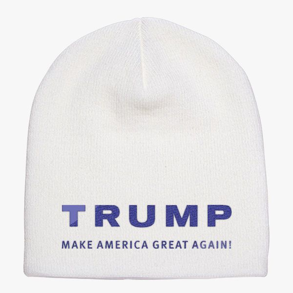 Trump Make America Great Again Knit Beanie (Embroidered)  d0ba7e1a525