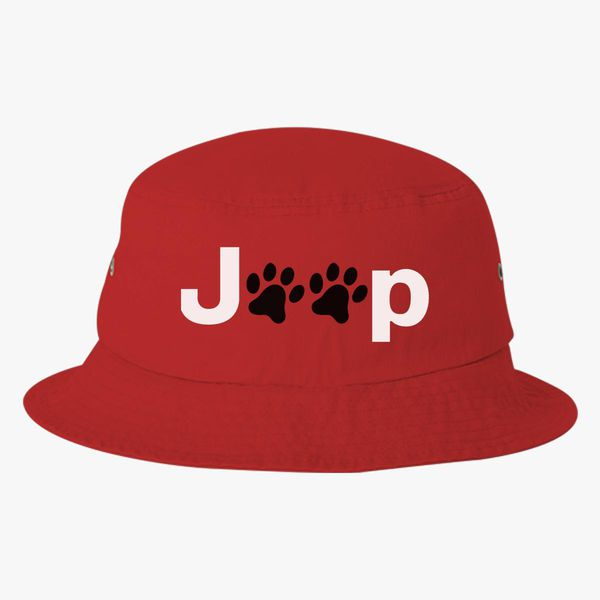 Jeep Paws Bucket Hat - Embroidery +more 4c879c406f1