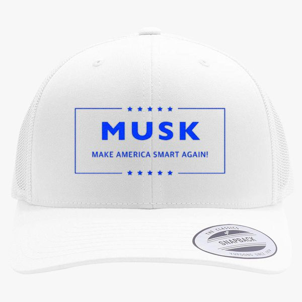 36b3b98482d Musk Make America smart again Retro Trucker Hat - Embroidery +more