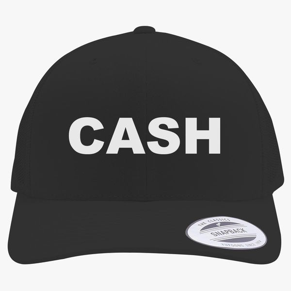 Johnny Cash Logo Retro Trucker Hat +more ebbe653bae9