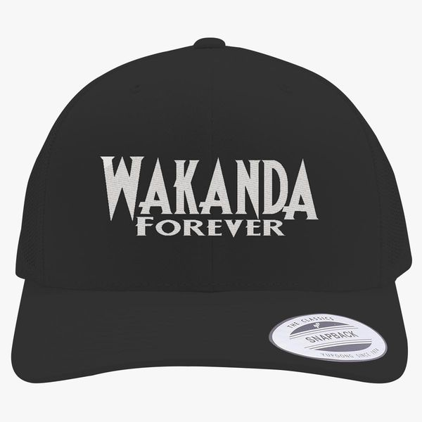 Wakanda Forever Retro Trucker Hat - Embroidery +more 7088ef9c3307