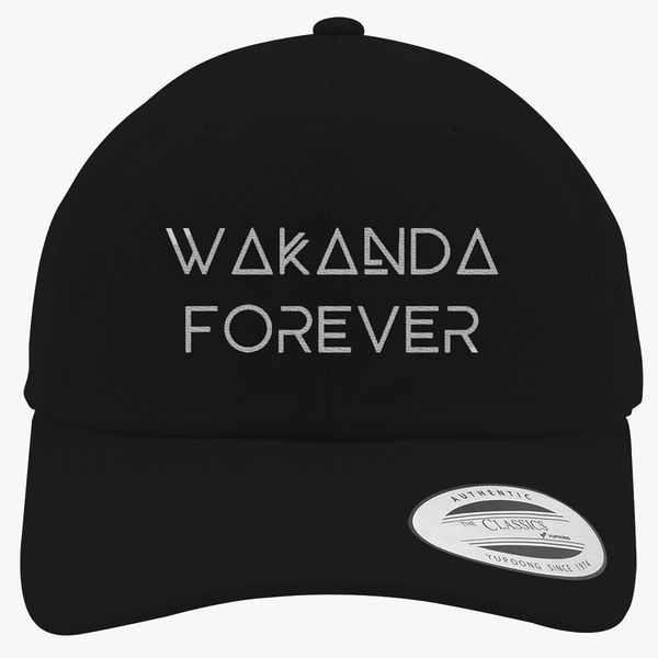 Wakanda Forever Cotton Twill Hat - Embroidery Change style 185596c22b9