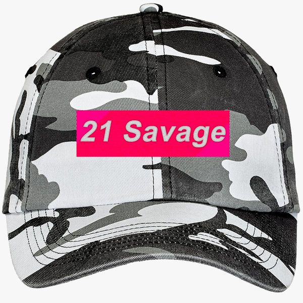 dc96eba4f422a 21 Savage Camouflage Cotton Twill Cap - Embroidery +more