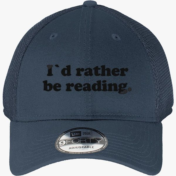 adf584df I'd Rather Be Reading New Era Baseball Mesh Cap - Embroidery +more