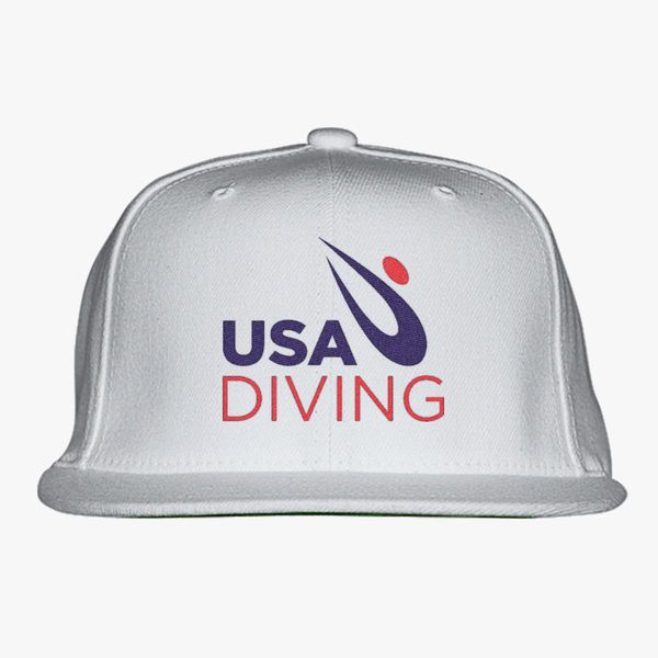 49040f9bfb0 USA Diving Logo Snapback Hat - Embroidery +more