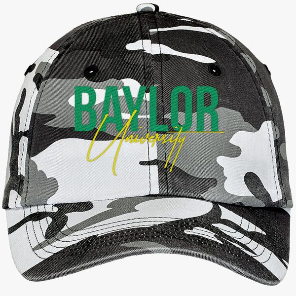 baylor university Camouflage Cotton Twill Cap - Embroidery +more 6f0b0e198a07