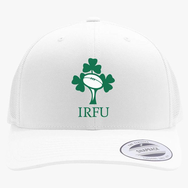 b998dcb7855 Irish Rugby Football Logo Retro Trucker Hat +more