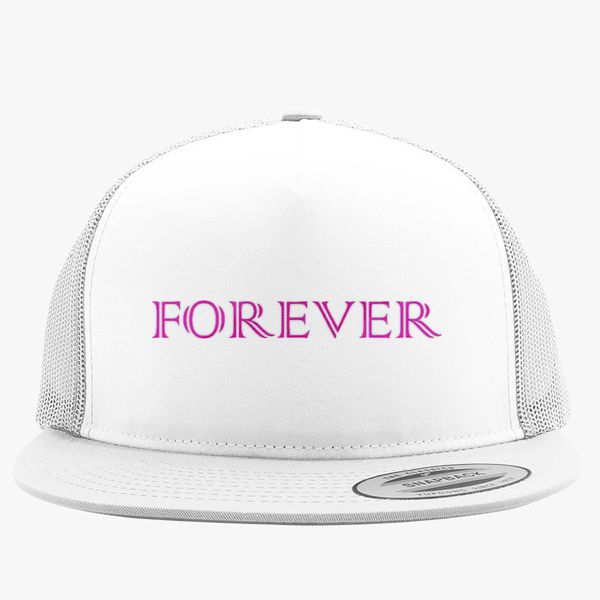 75256cdb forever logo Trucker Hat (Embroidered) | Hatsline.com