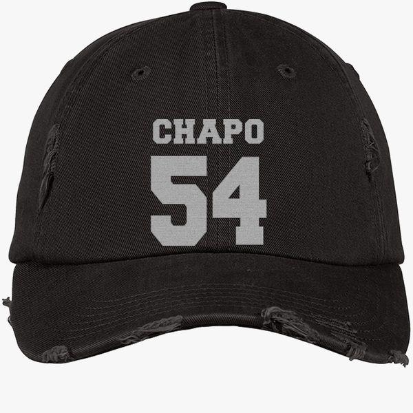 2ca8e81e723 Chapo 54 Distressed Cotton Twill Cap - Embroidery +more