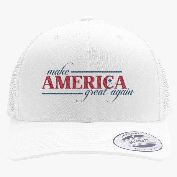 0e89721345c Make America Great Again Retro Trucker Hat - Embroidery +more