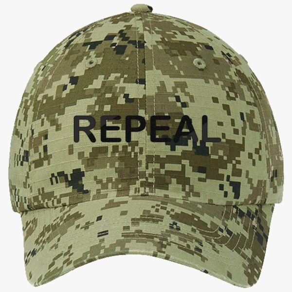 ce7c6c92 Repeal logo Ripstop Camouflage Cotton Twill Cap (Embroidered ...