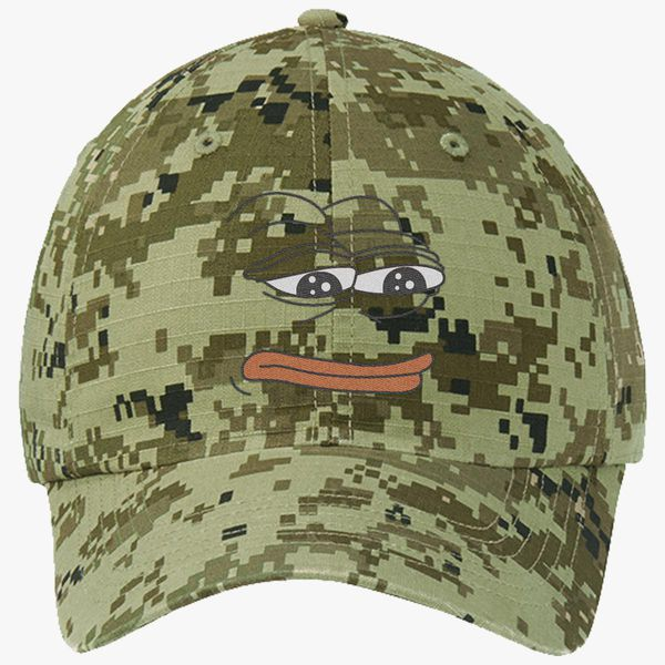The Frog Pepe Ripstop Camouflage Cotton Twill Cap - Embroidery +more ae531b2f4212