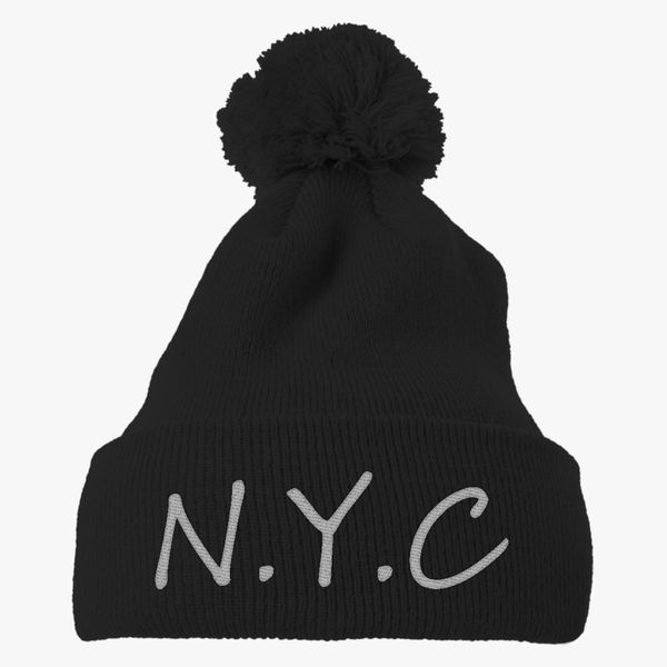 7f9d457992a new york city nyc Knit Pom Cap - Embroidery +more