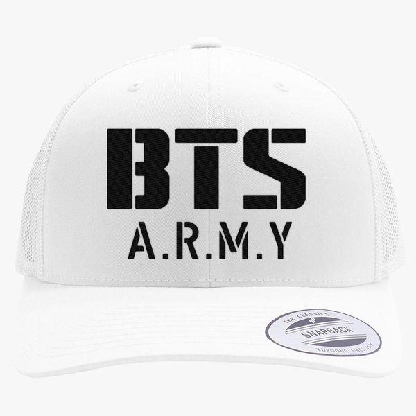 BTS Bangtan Boys BTS ARMY Retro Trucker Hat - Embroidery +more