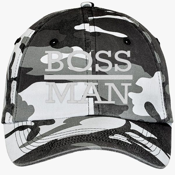 1c5eadeb9ffcf boss man Camouflage Cotton Twill Cap - Embroidery +more