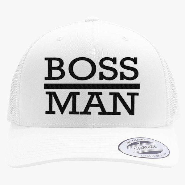 9719f5eaefca8 boss man Retro Trucker Hat - Embroidery +more