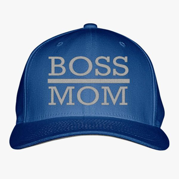 d5e3fb09c94a4 boss mom Baseball Cap (Embroidered)
