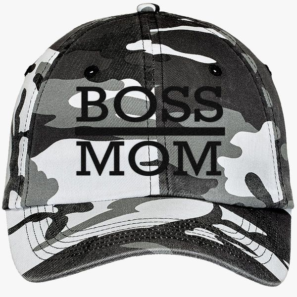 20c14b88e8e84 boss mom Camouflage Cotton Twill Cap - Embroidery +more