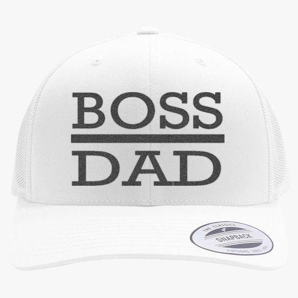 65598a622dd9f boss dad Retro Trucker Hat - Embroidery +more