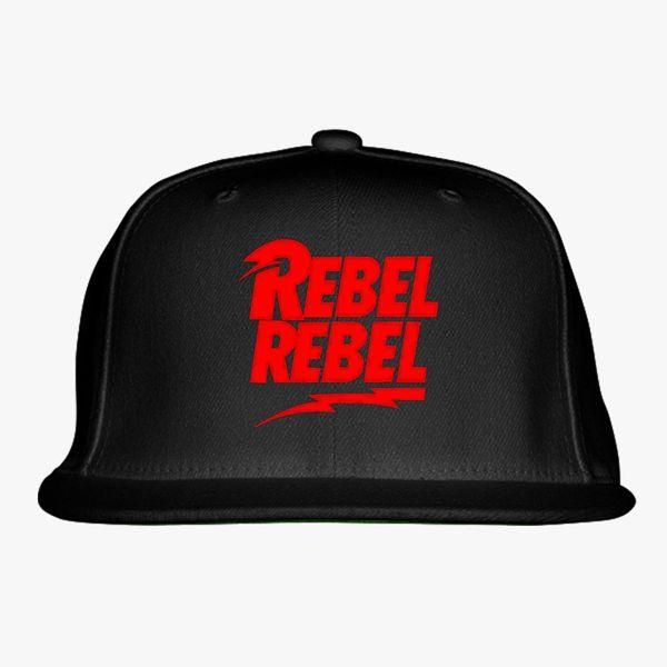 9844f6db0fdd6f David Bowie Rebel Rebel Snapback Hat (Embroidered) | Hatsline.com