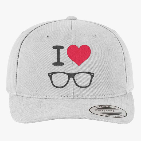 1ca0117287640 I love nerd Brushed Cotton Twill Hat - Embroidery +more