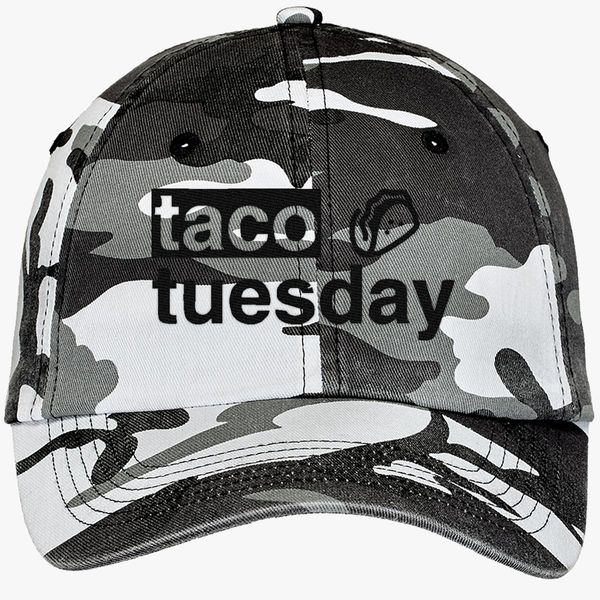 f7f30fcd6 Taco Tuesday Camouflage Cotton Twill Cap (Embroidered) | Hatsline.com