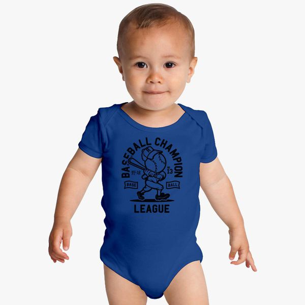 540335011b1 Baseball Champion League Baby Onesies | Hatsline.com
