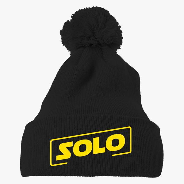 009102f468a Han Solo movie Knit Pom Cap (Embroidered)