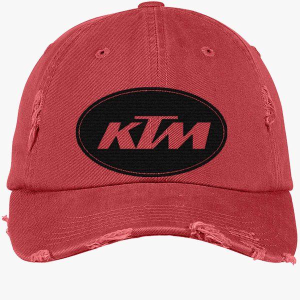 1cf9fe136 Ktm Distressed Cotton Twill Cap (Embroidered) | Hatsline.com