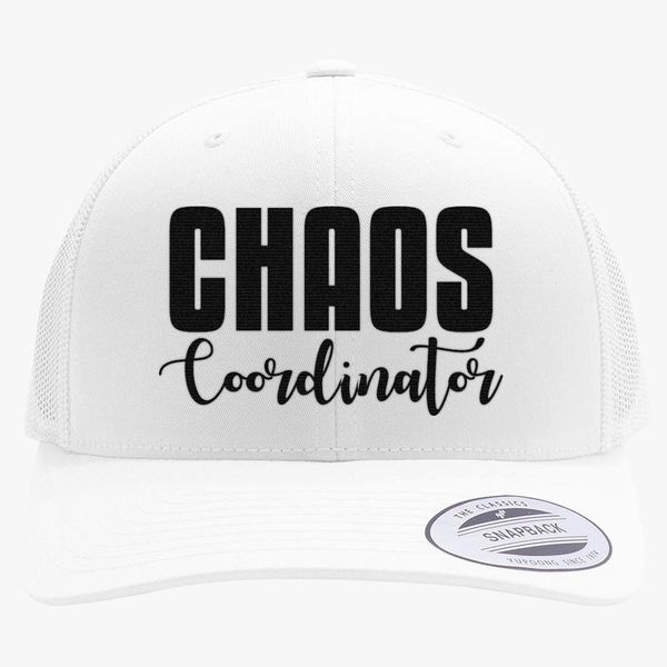 3086d9b5cf6d8 Chaos Coordinator Retro Trucker Hat - Embroidery +more