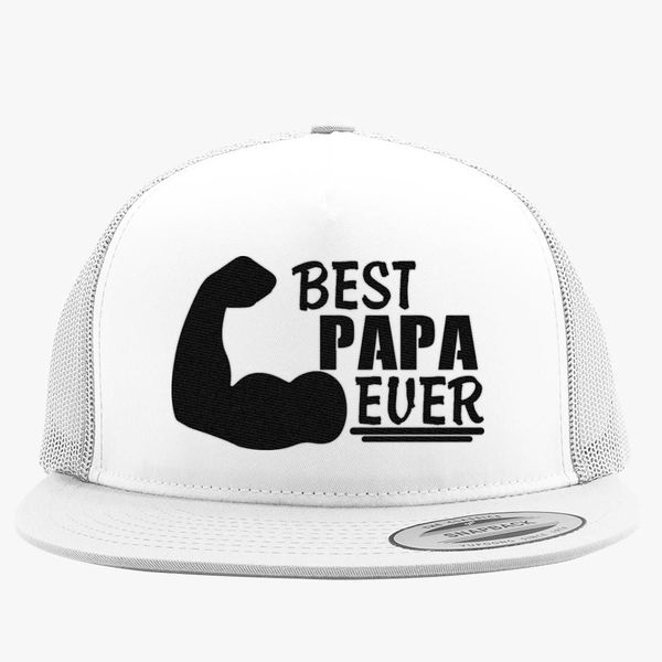 1c6eab9ca3946 Best Papa Ever Trucker Hat - Embroidery +more
