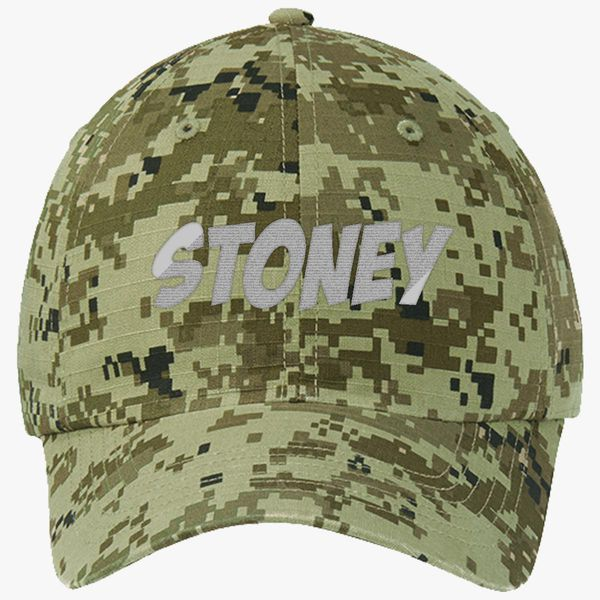 Post Malone-Stoney Ripstop Camouflage Cotton Twill Cap