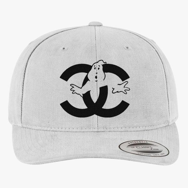 chanel cc parody logo ghost Brushed Cotton Twill Hat - Embroidery +more eb295af6ac4