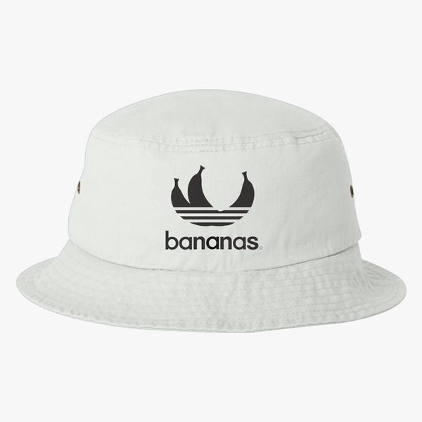 0e4c2f5eb1a Bananas parody logo in black Bucket Hat (Embroidered)