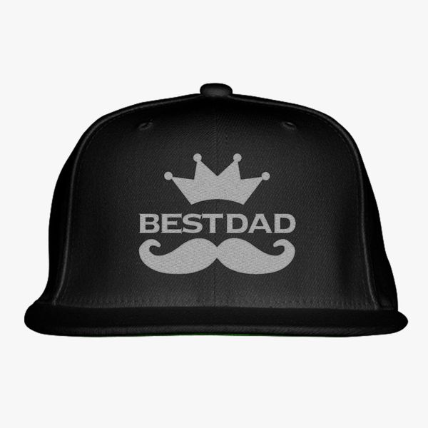 Best dad logo Snapback Hat (Embroidered) | Hatsline com