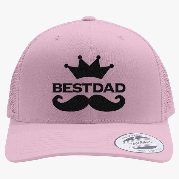Best dad logo Retro Trucker Hat (Embroidered) | Hatsline com