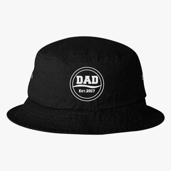 Dad Est.2017 logo Bucket Hat (Embroidered)  f41ee2adbee