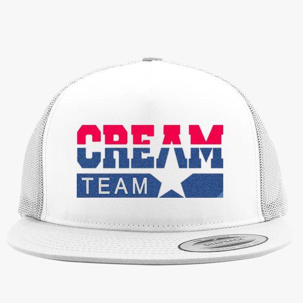 367f49bff444b0 Cream team Trucker Hat (Embroidered) | Hatsline.com