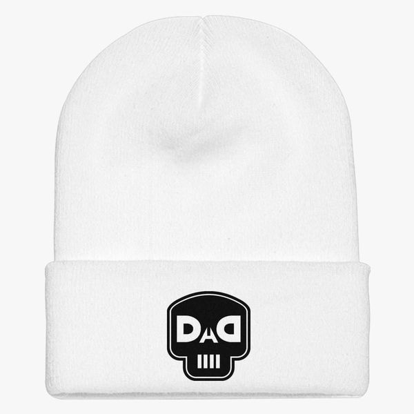 7df682c045f dad skull Knit Cap (Embroidered)