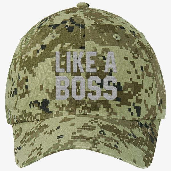 d54111d07165c9 Like A Boss Gangster Attitude Funny Hipster Ripstop Camouflage Cotton Twill  Cap - Embroidery +more