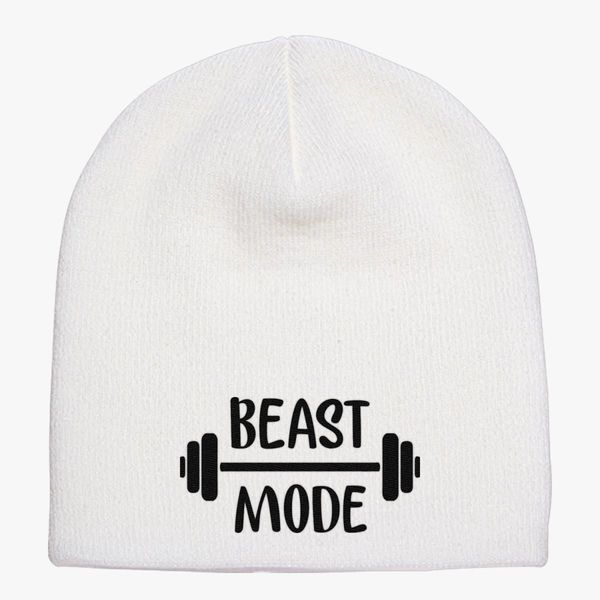 7b6821dc1cf beast mode Knit Beanie (Embroidered)
