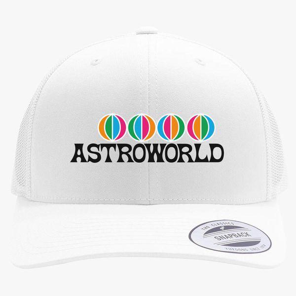 47c8e46a2671d AstroWorld Logo Retro Trucker Hat +more