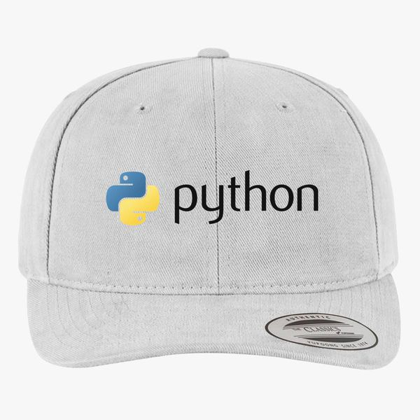 Python Programming Logo Brushed Cotton Twill Hat +more 87b4dbfd292