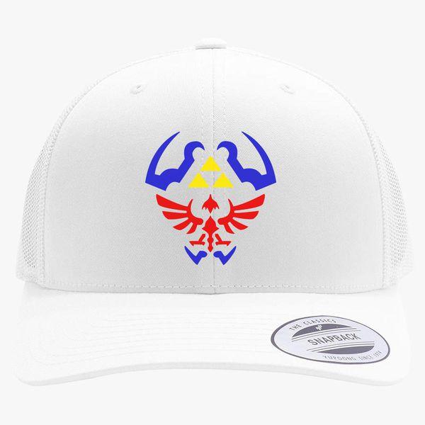 8b99ee48 Legend of zelda shield Retro Trucker Hat | Hatsline.com