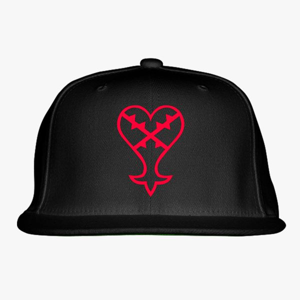 new list competitive price top design Heartless Logo (Red) - Kingdom Hearts Snapback Hat (Embroidered ...
